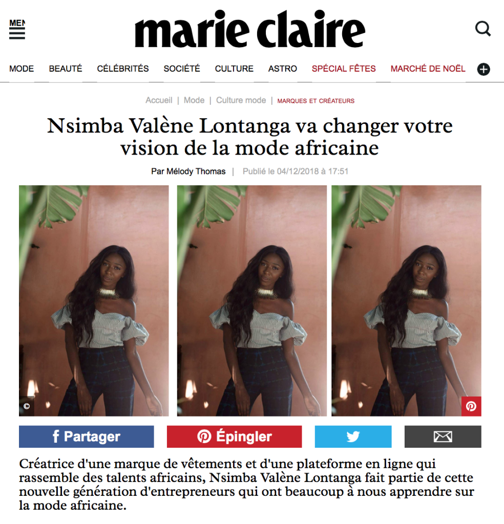 MARIE CLAIRE FR DECEMBER 2018